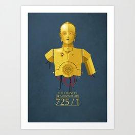 Never Tell Me The Odds (C3P0) Art Print