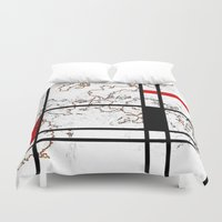 maps Duvet Covers featuring MIX MAPS by MehrFarbeimLeben