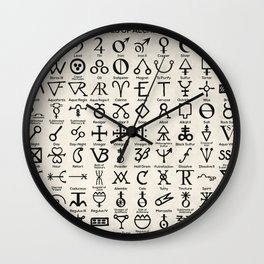 Symbols of Alchemists Wall Clock