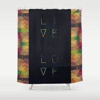marley Shower Curtains featuring Live & Love by Schwebewesen • Romina Lutz