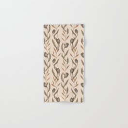 Poppy Pod Pattern Hand & Bath Towel