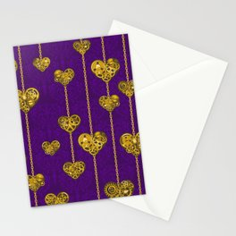 SteamPunk Love / Violet Stationery Cards