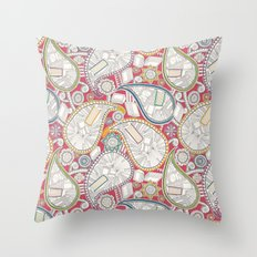 book paisley Throw Pillow