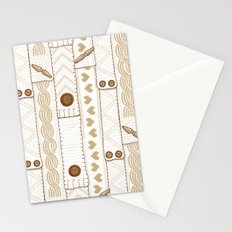 Scarves Knitted Buttoned - Beige Stationery Cards