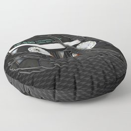 Retro classic vintage Black cassette tape Floor Pillow