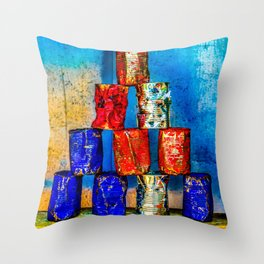 Soup cans. After the lunch Throw Pillow