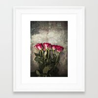 roses Framed Art Prints featuring Roses by Maria Heyens