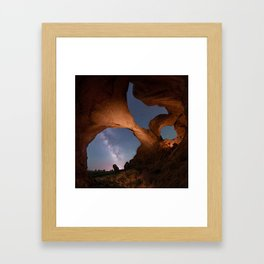 Double Arch in Arches National Park 2 Framed Art Print