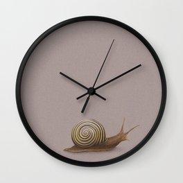 Snail by Lars Furtwaengler | Colored Pencil / Pastel Pencil | 2011 Wall Clock