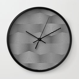 Moiré Waves One Wall Clock