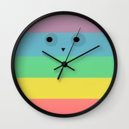 Rainbow Owl Wall Clock