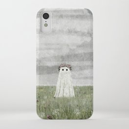 There's A Ghost in the Summer Meadow iPhone Case