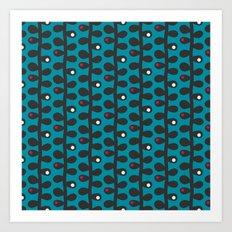 Like a Leaf [blue] Art Print