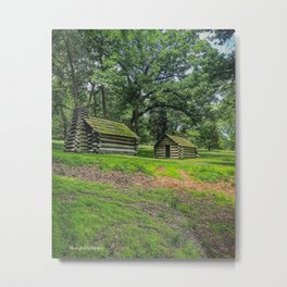 Valley Forge Cabins Metal Print