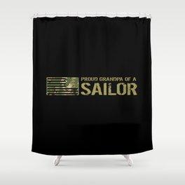 Proud Grandpa of a Sailor Shower Curtain