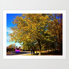 An Autumn Stroll Art Print