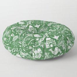Arabian Nights // Parsley Green Floor Pillow
