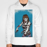 dana scully Hoodies featuring Dana by ZOMBIFIED