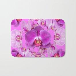 Ornate Pink & Purple  Butterfly Orchids Bath Mat