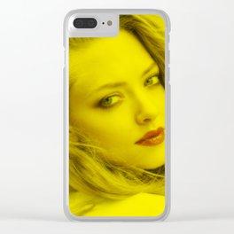 Amanda Seyfried - Celebrity (Florescent Color Technique) Clear iPhone Case