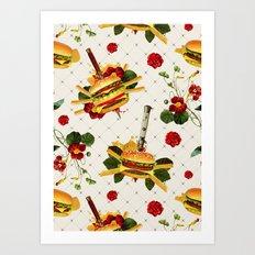cheeseburger in gangstas paradise Art Print
