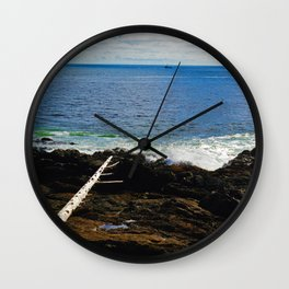 The Pacific Ocean as seen from the Wild Pacific Trail on Ucluelet, BC Wall Clock