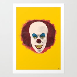 The Perplexing Pennywise, the Dancing Clown Art Print
