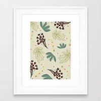 leaf Framed Art Prints featuring leaf by Ceren Aksu Dikenci