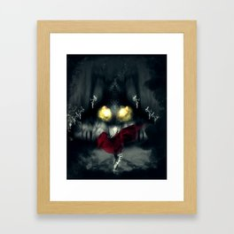Facing the Beast Framed Art Print