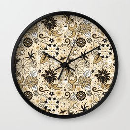 Classic Floral Wall Clock