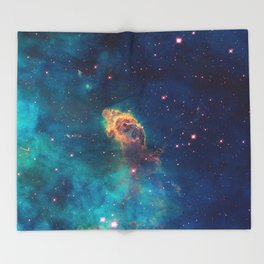 Space Nebula, A View of Astronomy, Stars, Galaxy, and Outer space  Throw Blanket