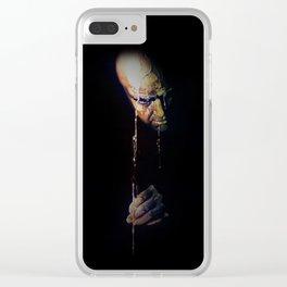Dark face Clear iPhone Case
