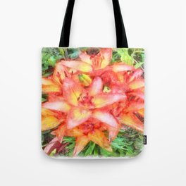 Helen's Lilies Watercolor Tote Bag