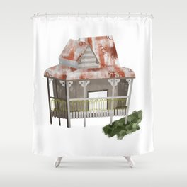 Little Old Abandoned House Shower Curtain