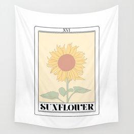 the sunflower tarot card Wall Tapestry