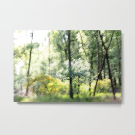 Abstract forest, intentionally blurred by camera shake  Metal Print