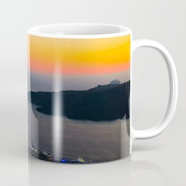 Fira Sunset i Santorini Coffee Mug