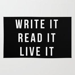 Write It, Read It, Live It Rug