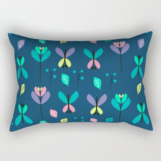 Floral night Rectangular Pillow