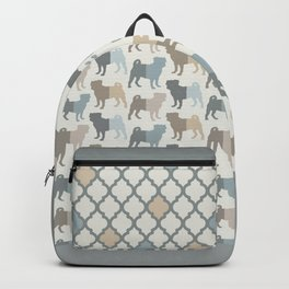 Pugs Pattern - Natural Colors Backpack