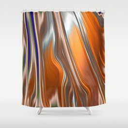 Monochrom Golden Age Splash Abstract Shower Curtain