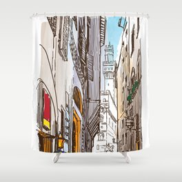 Sketches from Italy - Florence Shower Curtain