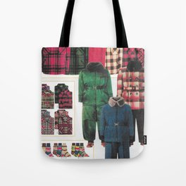 dress your family in plaid - Christmas nostalgic classic catalog design Tote Bag