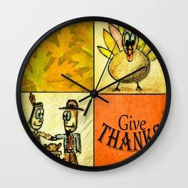 Lunchbox Napkin Art4 Wall Clock