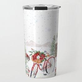 Winter Bicycle Travel Mug