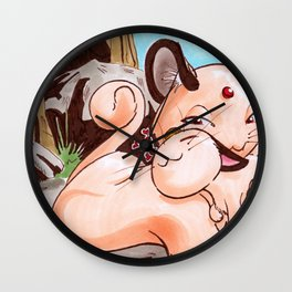 Meowth and Mom Wall Clock
