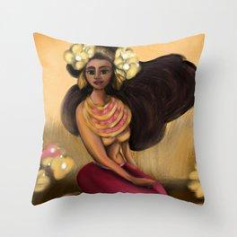 Hoola Rosa Throw Pillow