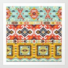 Modern Native American Pattern 4 Art Print