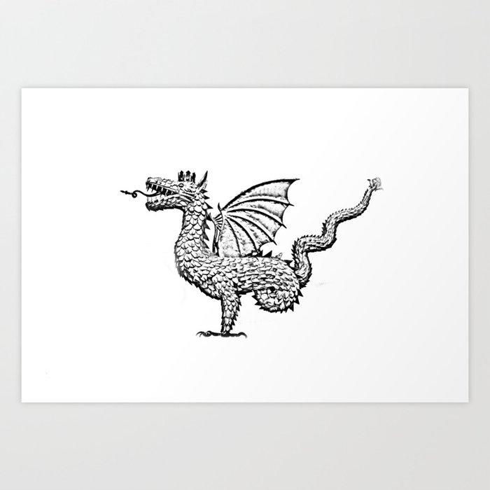 Dragon (pencil) Art Print