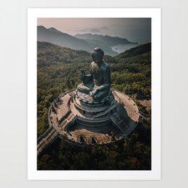 The Grand Buddha Art Print